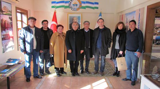 Özbekistan heyetinden ziyaret